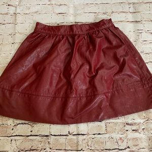 F21 faux leather skirt maroon